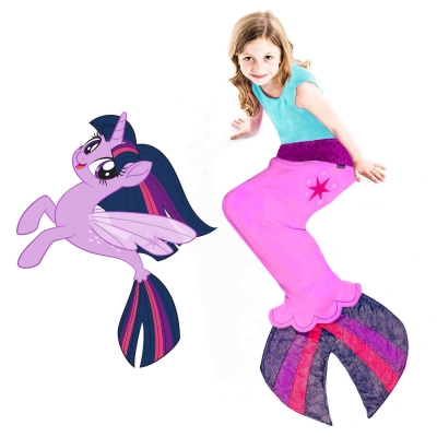 My Little Pony Twilight Sparkle Sea Pony Blanket - Purple