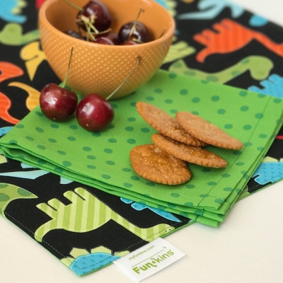 Funkins Reusable Cloth Napkins and Placemats for Kids