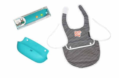 Creative Baby Dual Apron Silicone Bib