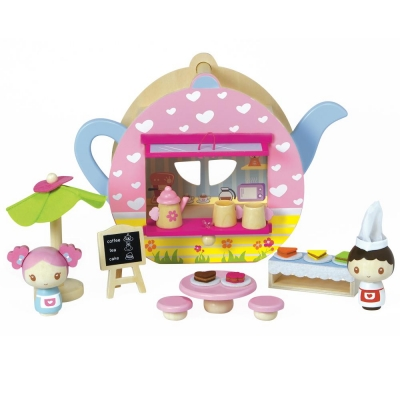 Teapot Cafe Wooden Play Set