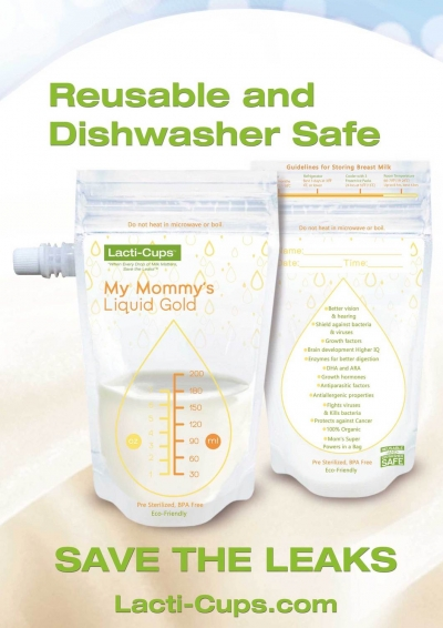Reusable and Dishwasher Safe Breastmilk Storage Bags