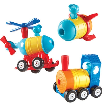 1, 2, 3 Build It! Rocket -Train - Helicopter
