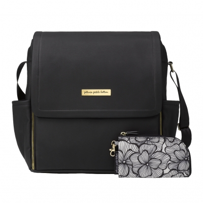 Boxy Backpack in Black Matter Leatherette