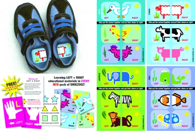 Shoezooz Educational Shoe Stickers