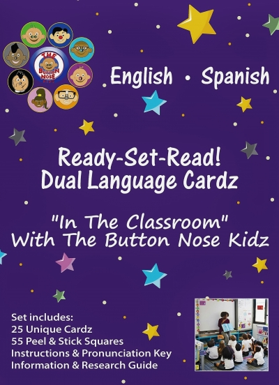 In The Classroom Button Nose Kidz Ready-Set-Read! Dual Language Cardz