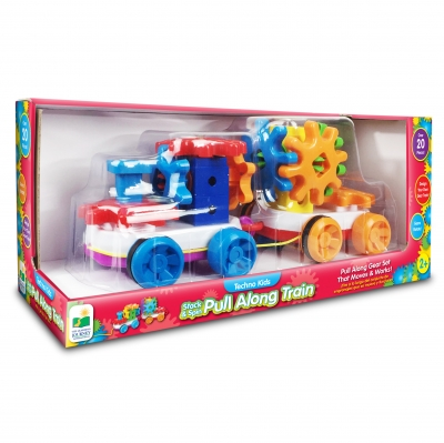 Techno Kids Stack & Spin Pull Along Train