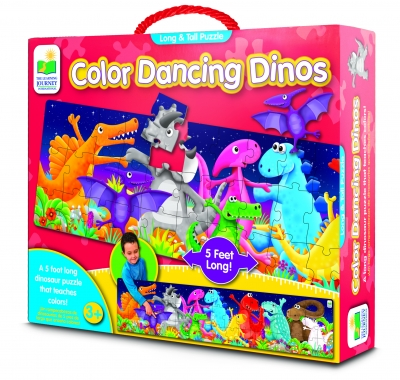Long & Tall Puzzle: Color Dancing Dinos