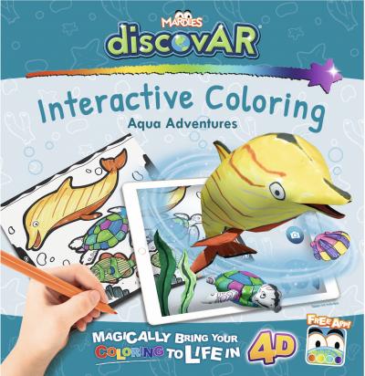 Mardles discovAR 4D Coloring Books