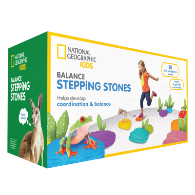 National Geographic Kids Obstacle Course with 10 Balance Stepping Stones