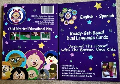 Button Nose Kidz Ready-Set-Read! Dual Language Cardz