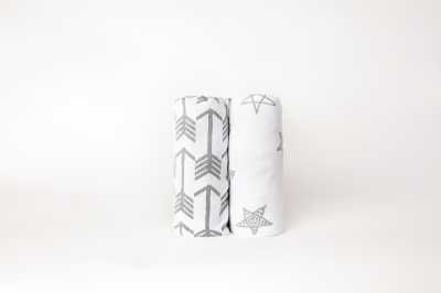 Crib Sheets Set - Arrows and Stars