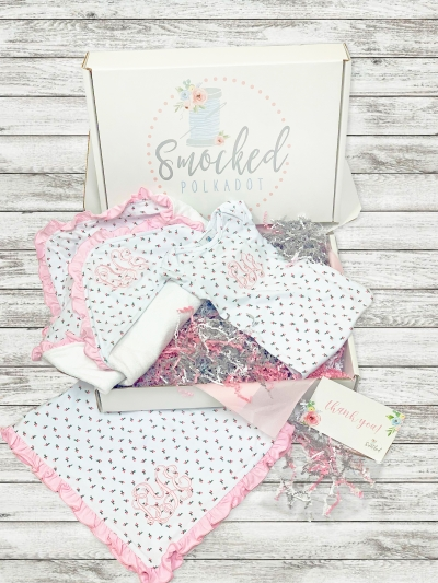 Smocked Polkadot Baby Bundle