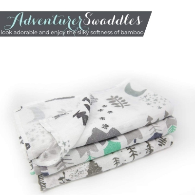 Muslin Swaddle Blanket Set 'Adventurer'