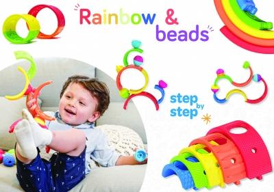 LALABOOM rainbow & beads