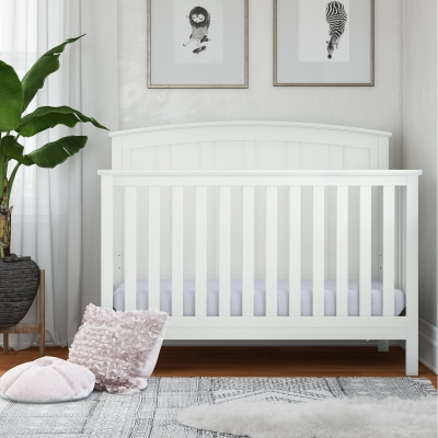 Baby Relax Colton 5-in-1 Convertible Crib, White