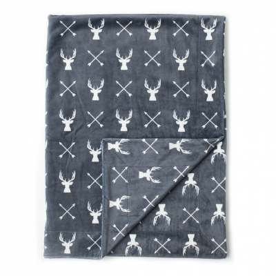 Deer Minky Baby Blanket 30