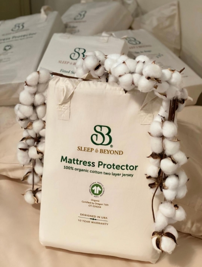 Sleep & Beyond Organic Cotton Waterproof Mattress Protector