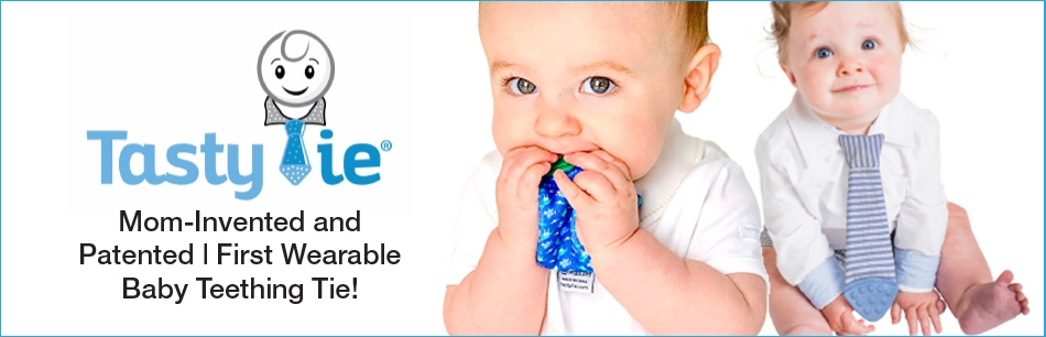 Introducing - The First Wearable Baby Teething Tie!