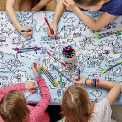 World map tablecloth by eatsleepdoodle