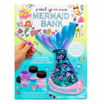 Just My Style Paint Your Own Mermaid Bank