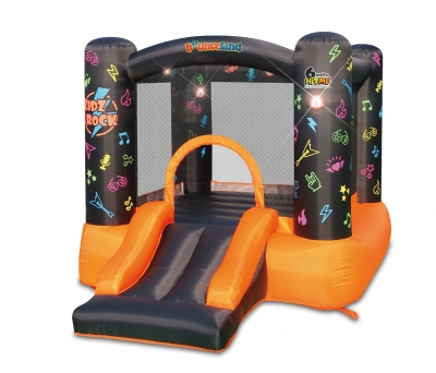Bounceland Kidz Rock Bounce House with Lights and Sound interaction