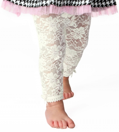 Lacy Baby Girl Leggings- 12 to 18 months