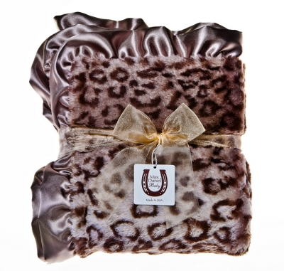 Grey Jaguar Baby Blanket
