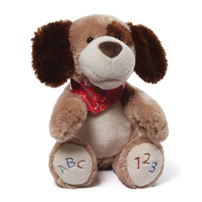 GUND ABC123 Doggie Animated Plush