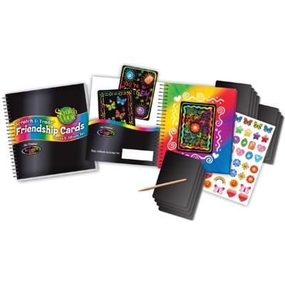 Scratch Magic Friendship Trading Cards Album