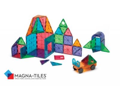 Magna-Tiles® Clear Colors 48 Piece DX Set