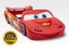 Disney Pixar Cars Lightning McQueen Covertible Toddler to Twin Bed with Lights and Toy Box