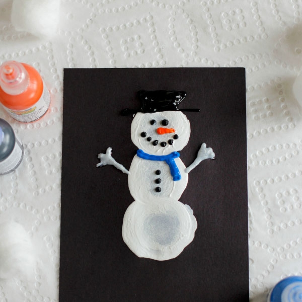 Craft Ideas Cotton Ball Winter Painting Creative Child