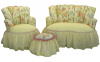 Bellefleur Girl's Princess Chair with Ottoman and Princess Loveseat Set