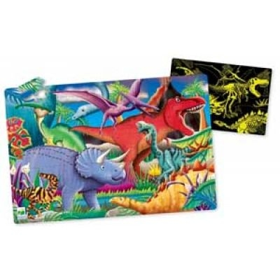 Puzzle Doubles! Glow in the Dark Dinos