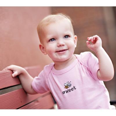 Bee Sweet Infant Bee-Tee Creeper Pink