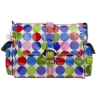 Single Buckle Messenger Diaper Bag in Jazz Dots
