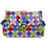 Single Buckle Messenger Diaper Bag in Jazz Dots