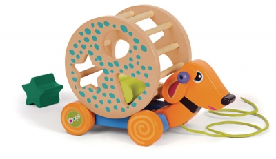 My Rolling Puzzle - Wooden - Rolling Friend Dog!