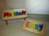 Personalized Name Puzzle Stool