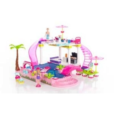 Mega Bloks Barbie Build 'n Style Pool Party