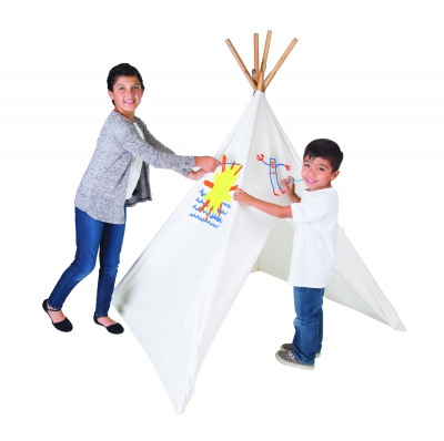 Cotton Canvas Teepee with Paint Set