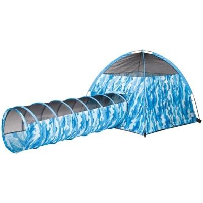 Blue Camo Tent & Tunnel Combo