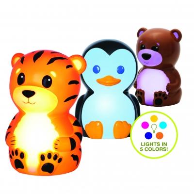 Portable Night-Light - Tiger, Penguin, Bear