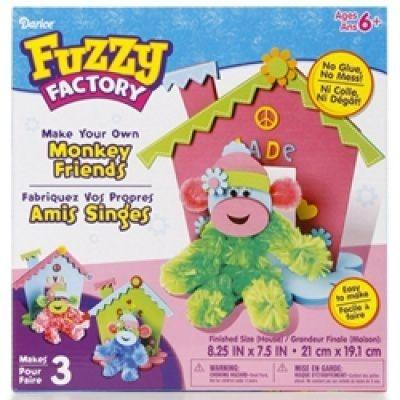 Darice® Fuzzy Factory Monkey Friends Kit
