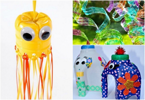 23 water bottle crafts creative child for Water bottle recycling ideas