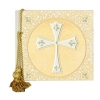 9x9 Classic Linen Photo Album with Swarovski Crystals and 'Ivory Cross for Baptism