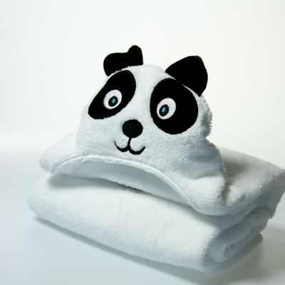Little Ashkim Panda Hooded Turkish Towel