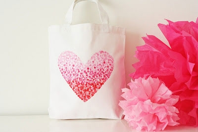 Heart Bag Pencil Stamp Craft
