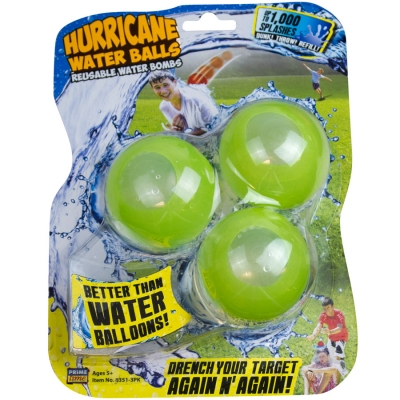 "Hurricane ""REUSEABLE"" Water Balls (Ages 5+, SRP $7.99)"