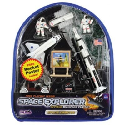 Space Explorer 10-piece Backpack Playset